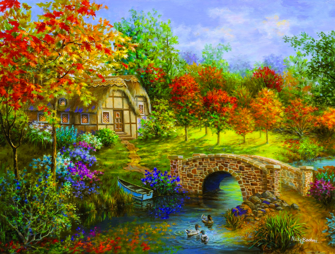 3000pc Jigsaw Puzzle-Autumn Beauty by Nicky Boehme