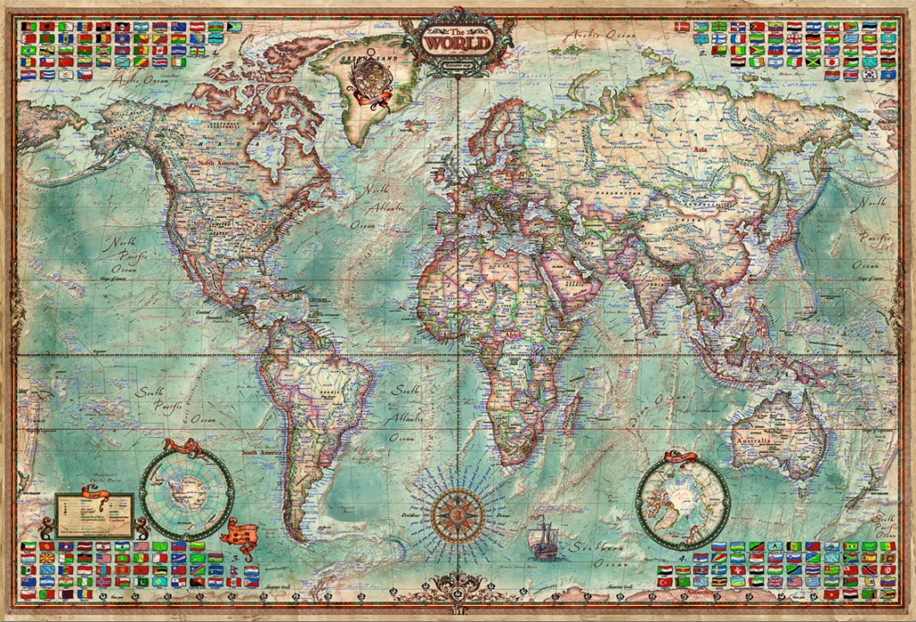 4000 piece jigsaw puzzle the world map jigsaw puzzles for adults. Black Bedroom Furniture Sets. Home Design Ideas