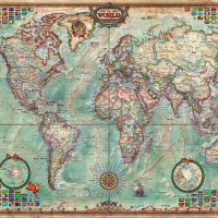 4000 Piece Puzzle World Map