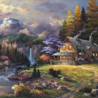 4000 Piece jigsaw Puzzle-Mountain Hideaway