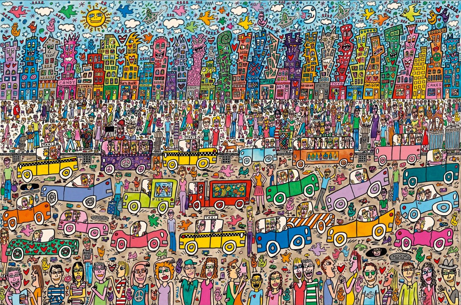 5000 piece puzzle james rizzi city jigsaw puzzles for adults. Black Bedroom Furniture Sets. Home Design Ideas