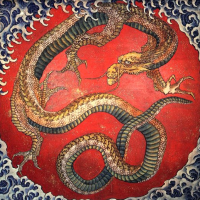 Hokusai Dragon Wooden Puzzle
