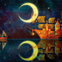Nadiezda Night Ship Wooden Jigsaw Puzzle
