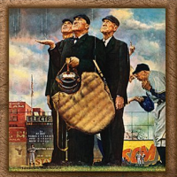 Norman Rockwell Baseball Panoramic Puzzle_ 1000 Pieces