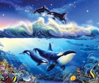 Christian Riese Lassen Jigsaw Puzzles - Panoramic- The Blue World