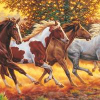 Panoramic Running Horses Jigsaw Puzzle 1000pc
