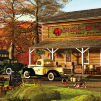 Panoramic jigsaw puzzles 1000-piece, Sugar Creek Cider Mill