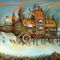 Tyukanov Flying Bottle Wooden Jigsaw Puzzle - artifact