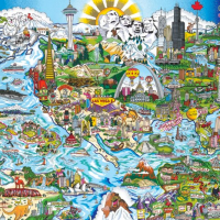 We Are The World Panoramic Puzzle