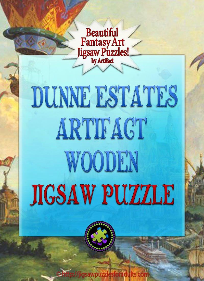Dunne Estates Artifact Wooden Jigsaw Puzzle