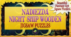 Nadiezda Night Ship Wooden Jigsaw Puzzle