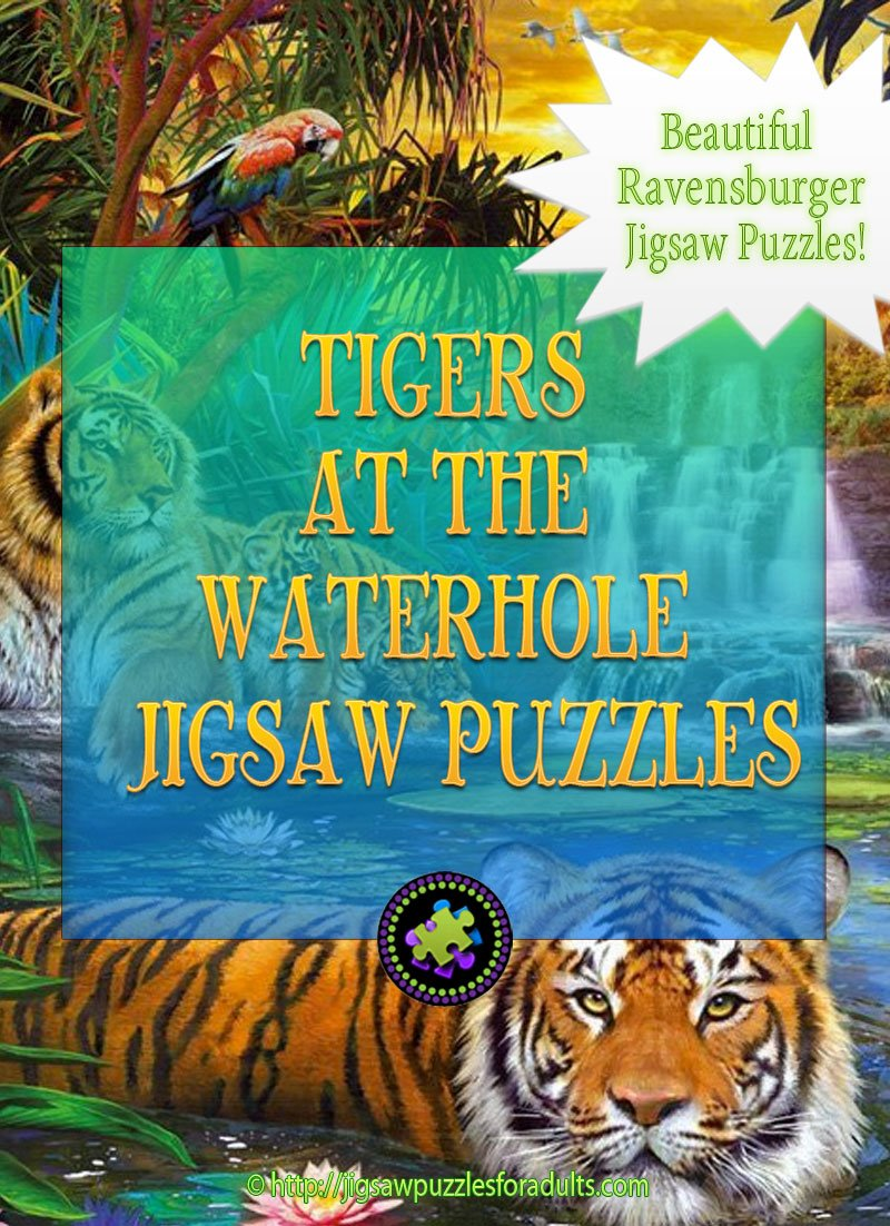 Tiger at the Waterhole Jigsaw Puzzle