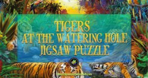 Tigers At The Waterhole Jigsaw Puzzle