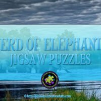 Herd of Elephants Jigsaw Puzzle