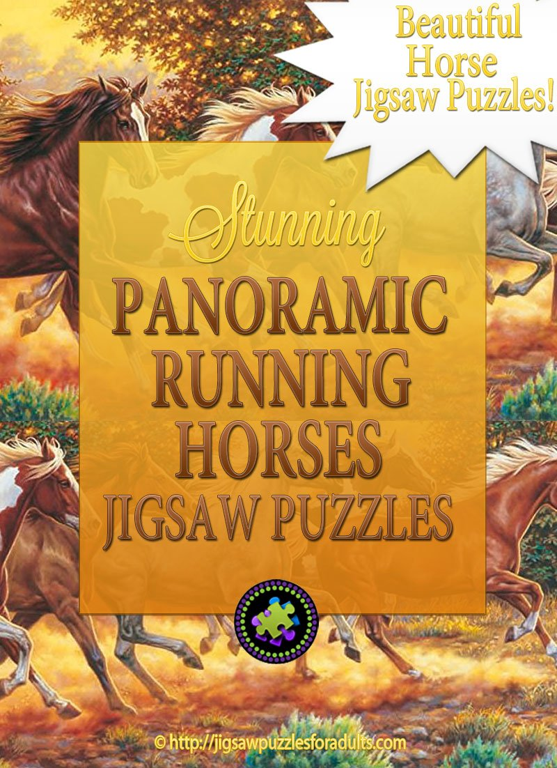 Panoramic Running Horses Jigsaw Puzzle