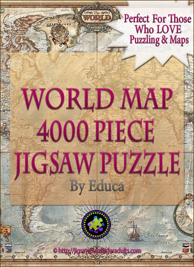 4000 piece puzzle world map by educa challenging fun eduational 4000 piece puzzle world map gumiabroncs Image collections
