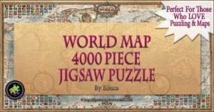 4000 Piece Puzzle World Map  | Challenging, Fun, Eduational