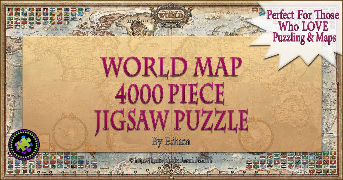 4000 piece puzzle world map by educa challenging fun eduational. Black Bedroom Furniture Sets. Home Design Ideas