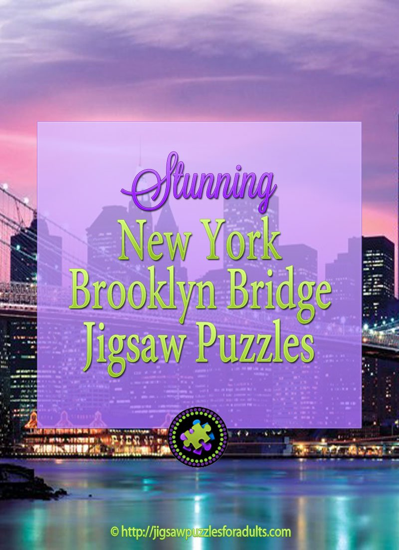New York Brooklyn Bridge 1000 Piece Jigsaw Puzzle