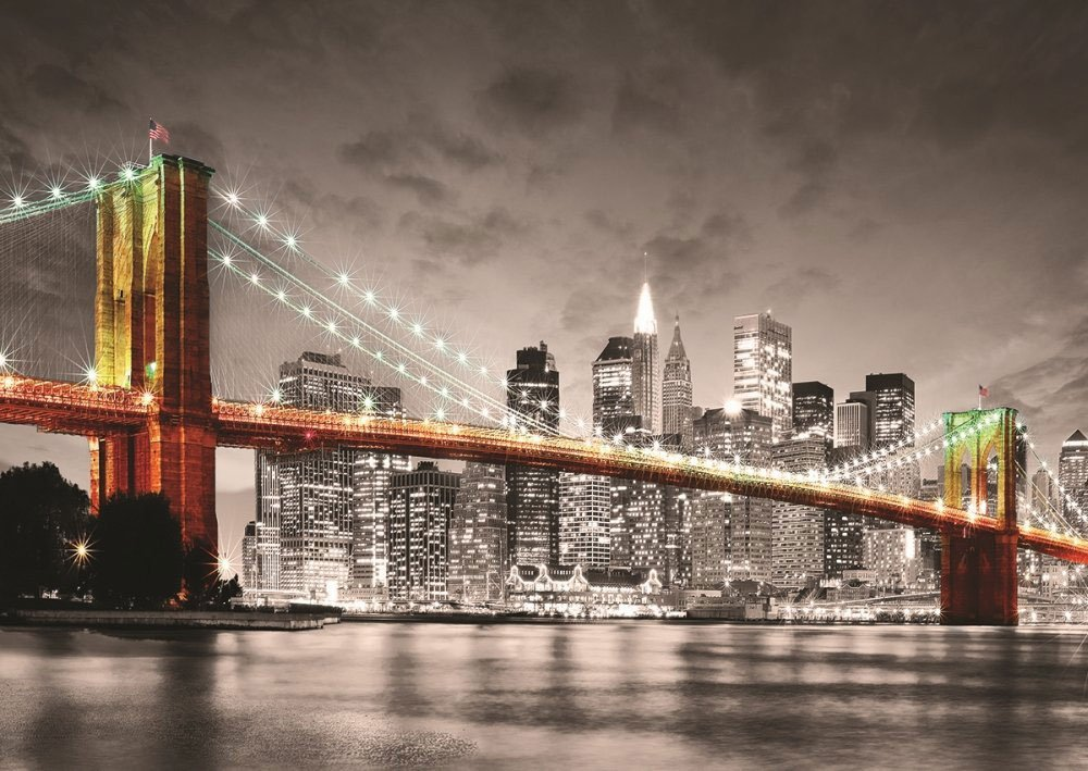 new york brooklyn bridge 1000 piece jigsaw puzzle. Black Bedroom Furniture Sets. Home Design Ideas