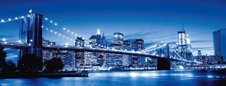 Panoramic New York Brooklyn Bridge 1000 Piece Jigsaw Puzzle