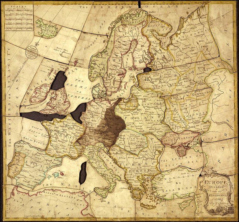 Spilsburys Jigsaw Puzzle Map