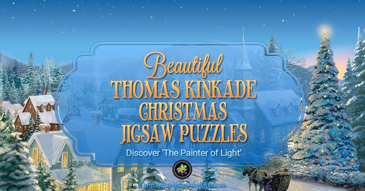 Thomas Kinkade Christmas Puzzles | Discover The Painter of Light