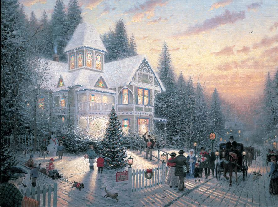 Victorian Christmas Thomas Kinkade Jigsaw Puzzle