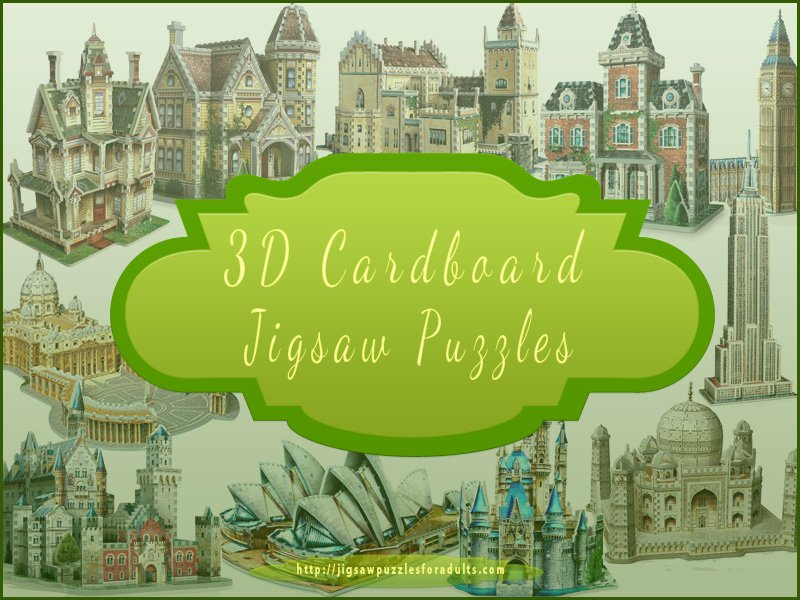 3D Cardboard Puzzles