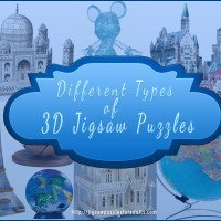 Different types of 3D jigsaw puzzles