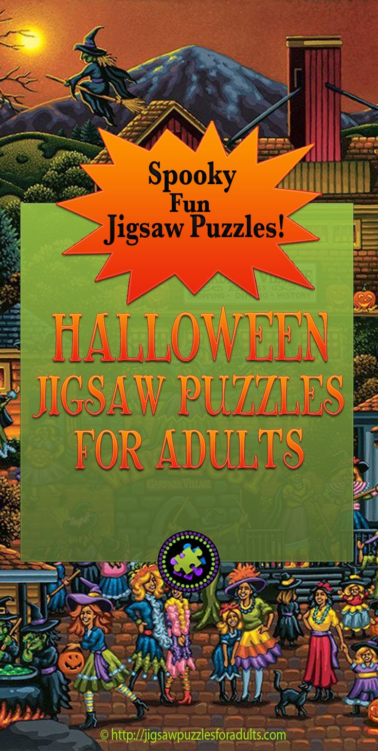 Halloween Jigsaw Puzzles For Adults Bewitching Spooky