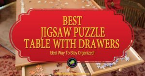 Jigsaw Puzzle Table with drawers