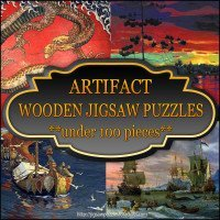 Artifact wooden puzzles under 100 pieces
