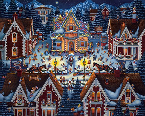 Folk Art Christmas Gingerbread House Paintings