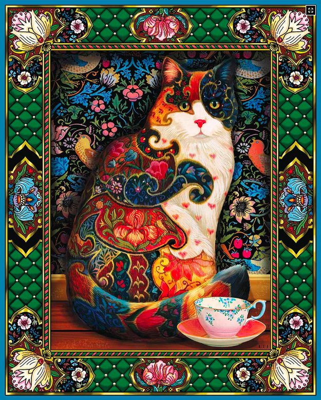 Painted Cat - Jigsaw Puzzle