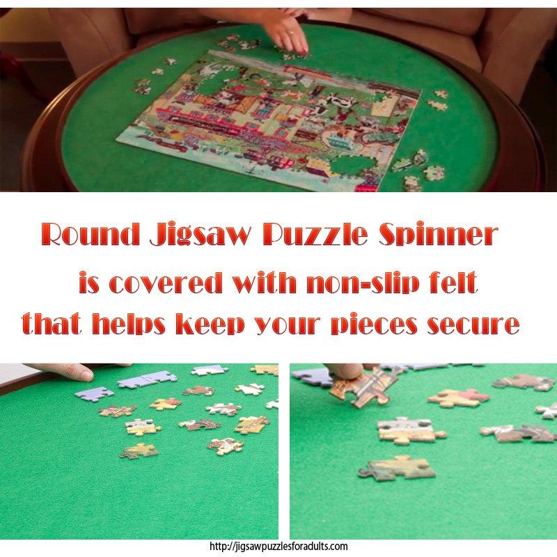 round jigsaw puzzle spinner felt