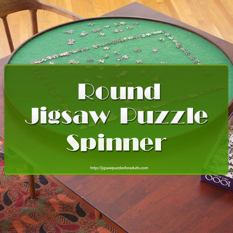 Round Jigsaw Puzzle Spinner