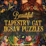 Tapestry Cat Jigsaw Puzzle Beautiful