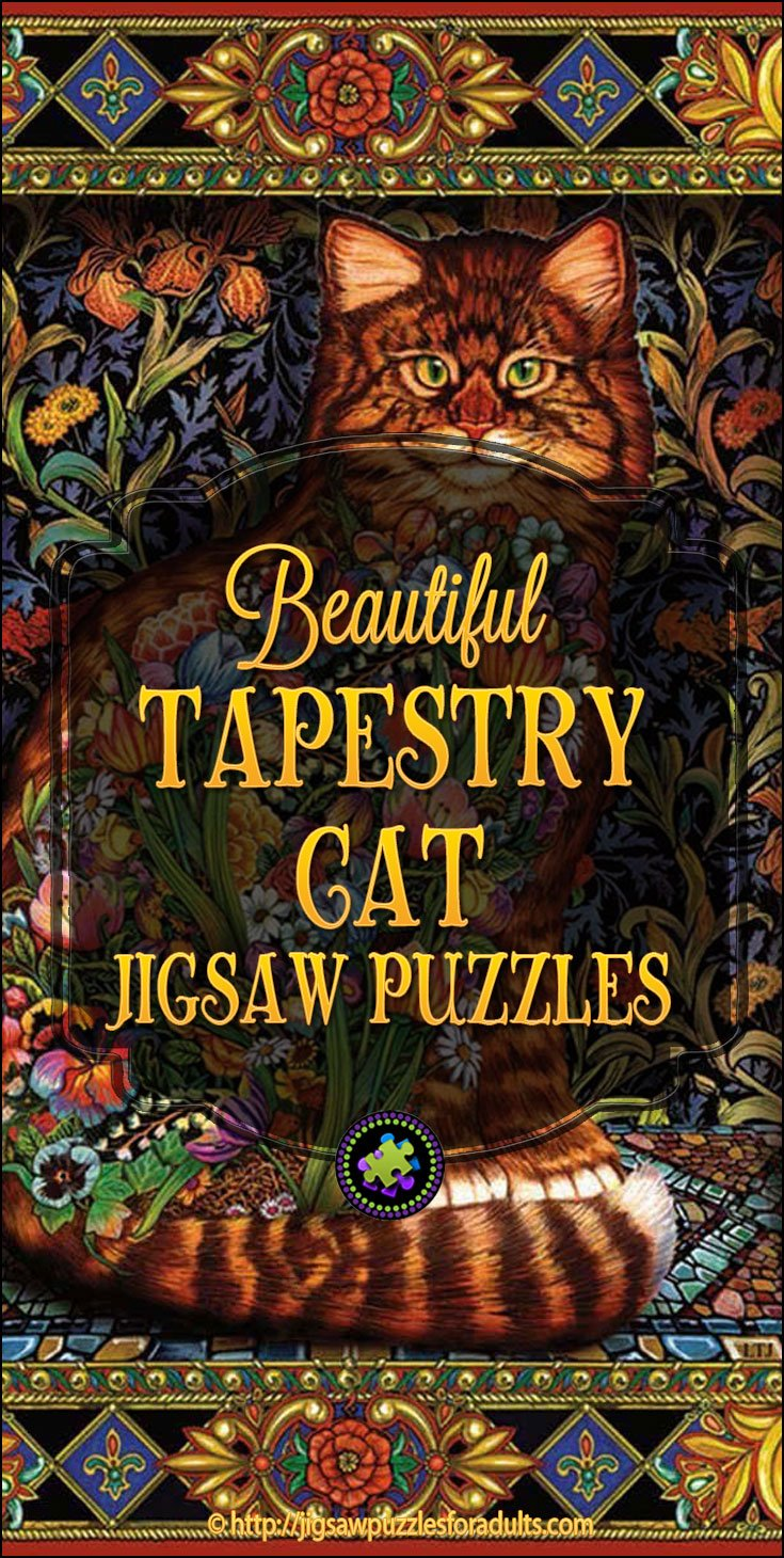 Tapestry Cat Jigsaw Puzzle Beautiful