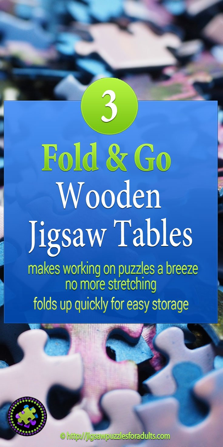 Fold Go Wooden Jigsaw Table