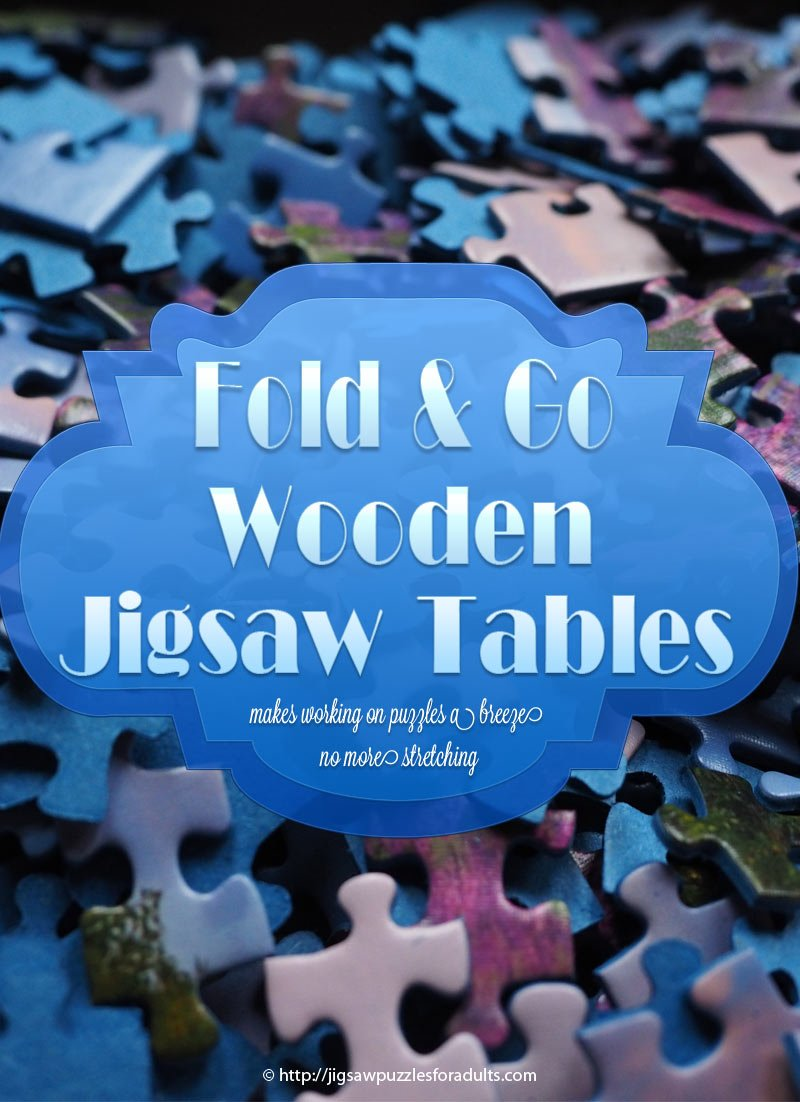 Fold Go Wooden Jigsaw Table Makes Working On Puzzles A Breeze