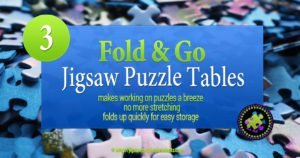Fold Go Wooden Jigsaw Table | Makes Working On Puzzles a Breeze