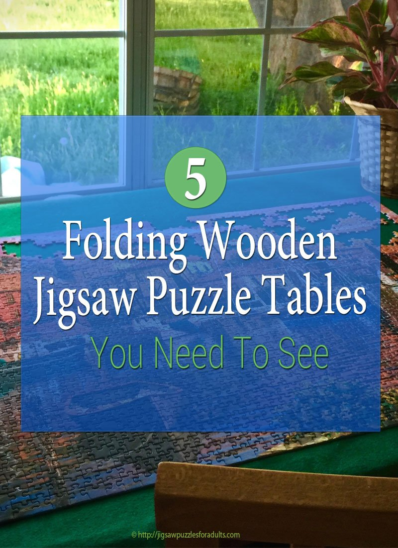 Folding Wooden Jigsaw Puzzle Table