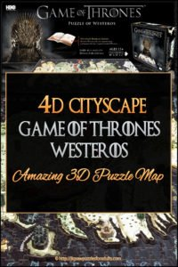 4d Cityscape Game of Thrones Westeros Puzzle 3D Puzzle Map