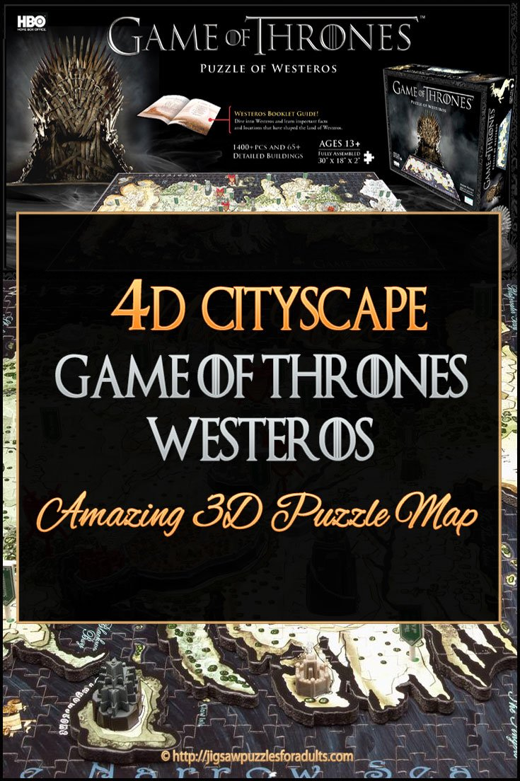 4d Cityscape Game of Thrones Westeros Puzzle | Amazing 3D ... on crown lands map game of thrones, detailed map of westeros game of thrones, google map game of thrones,