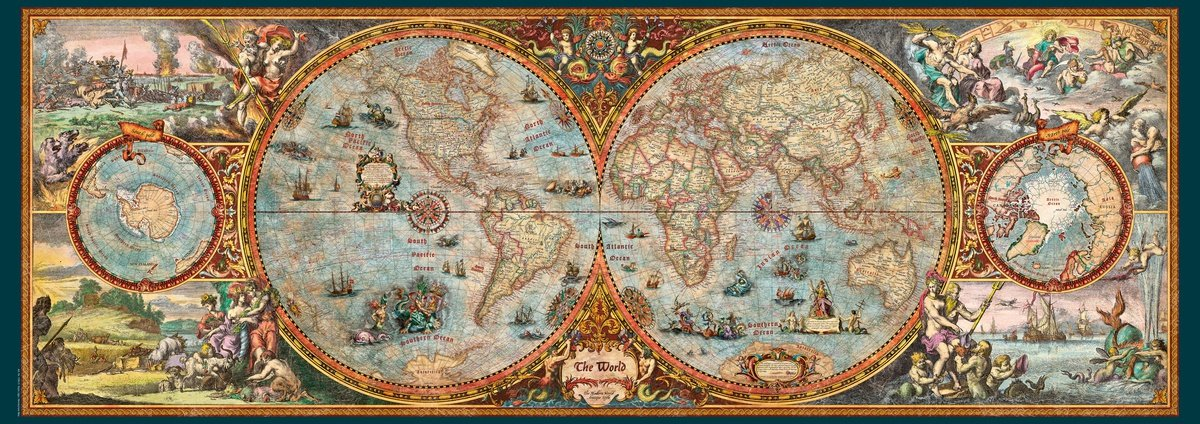Old world map jigsaw puzzle jigsaw puzzles for adults large old world map jigsaw puzzle gumiabroncs