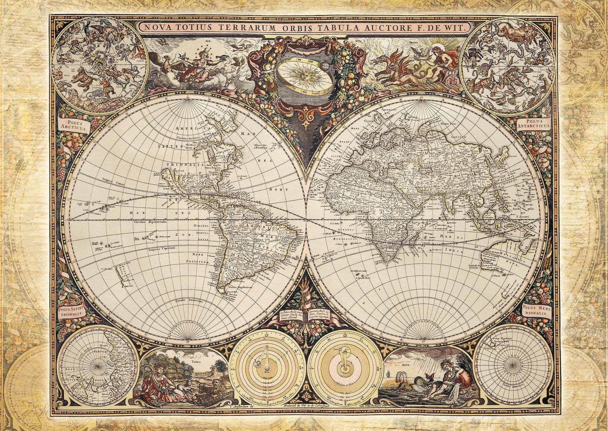 Old World Map Jigsaw Puzzle U2013 1500 Pieces To 2000 Pieces
