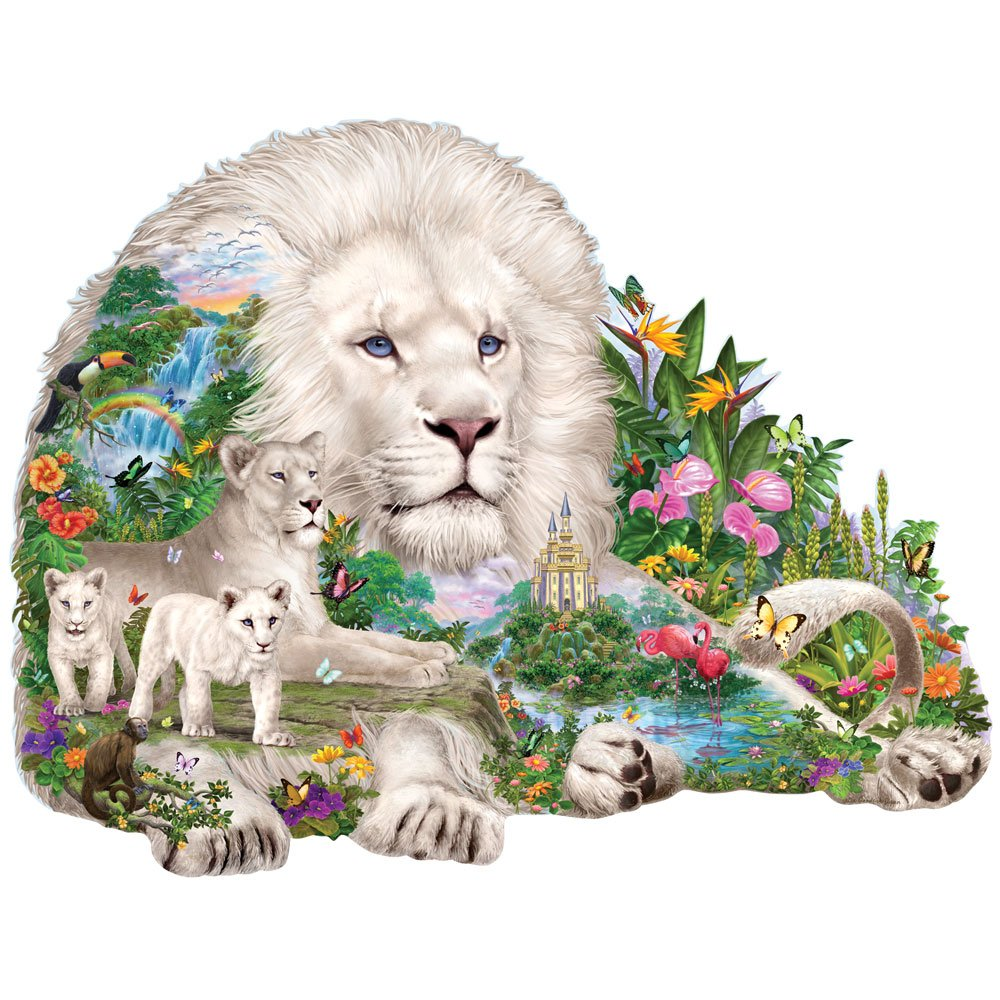 lion jigsaw puzzle 1000 piece panoramic jigsaw puzzle. Black Bedroom Furniture Sets. Home Design Ideas