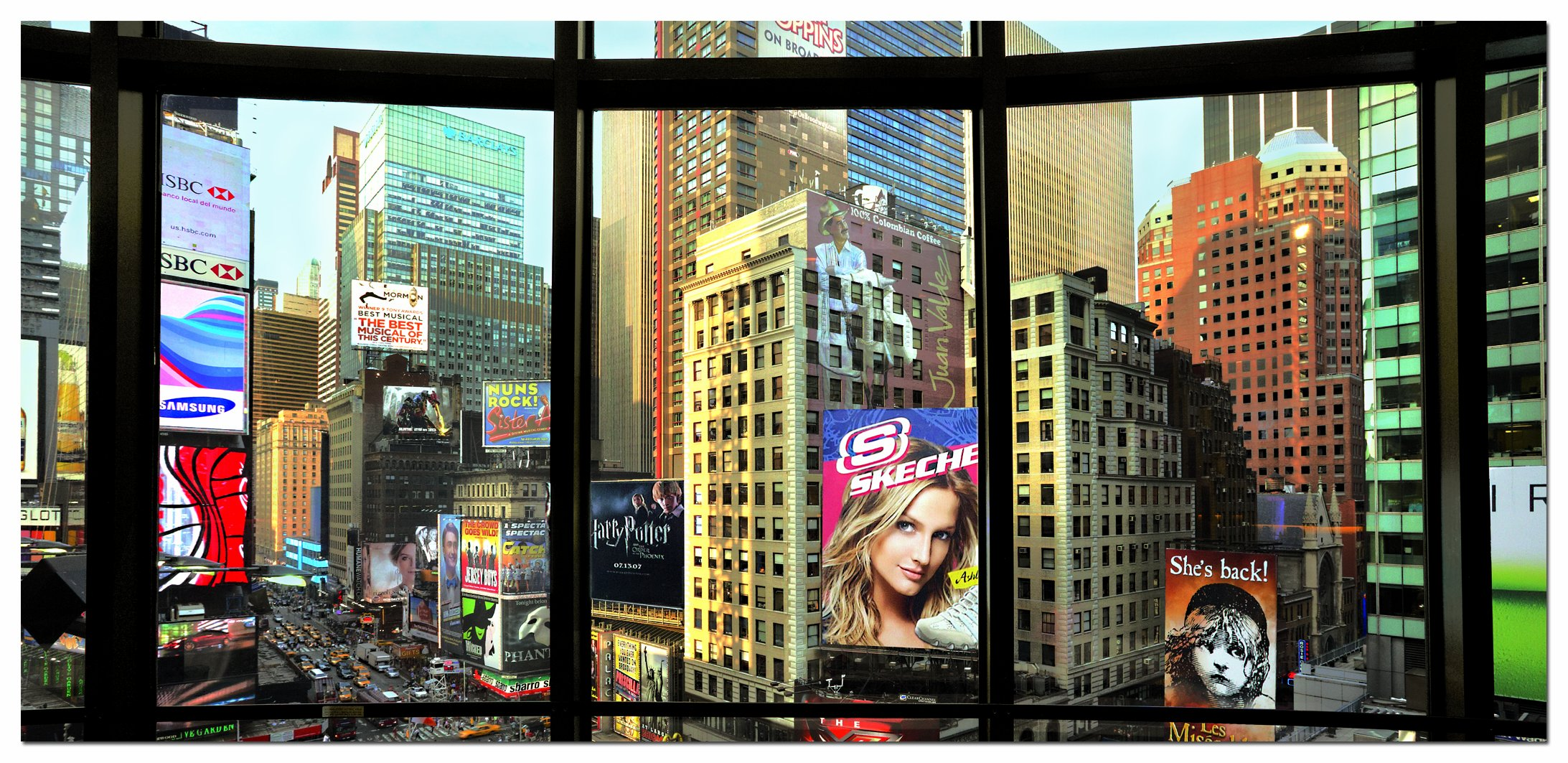 times square from my window 3000 piece panorama puzzle. Black Bedroom Furniture Sets. Home Design Ideas
