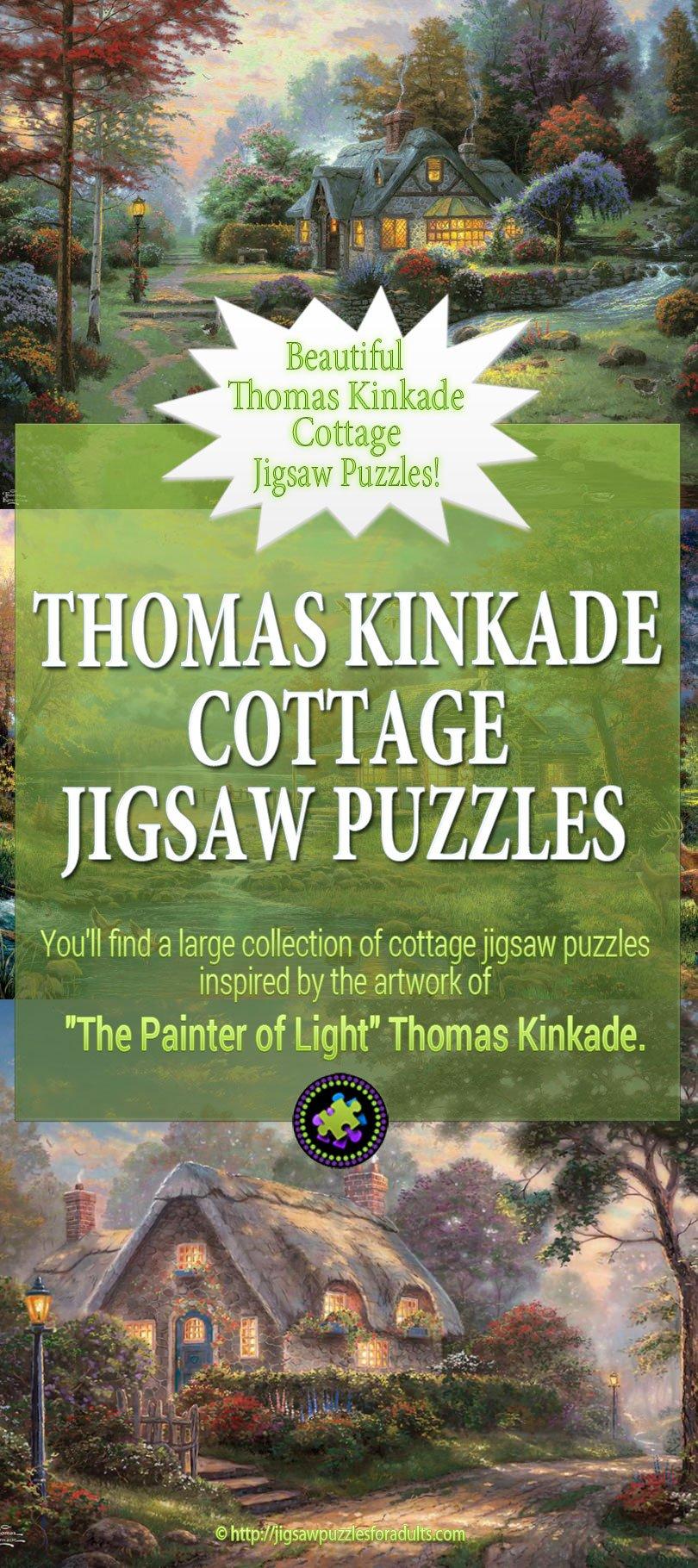 Thomas Kinkade Cottage Puzzles